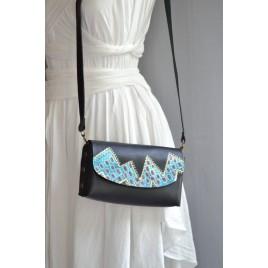 Küçük Deri Çanta / Dikişsiz / El Boyaması Özel Tasarım