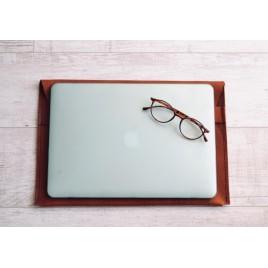 Crazy Horse Laptop Kılıfı / Deri Laptop Çantası / MacBook Air Kılıfı / Taba