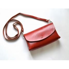 Deri Küçük Çanta -Dikişsiz Model- Kırmızı
