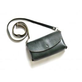 Deri Küçük Çanta -Dikişsiz Model- Yeşil