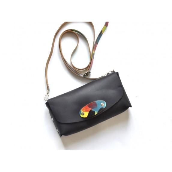 Deri Küçük Çanta -Dikişsiz Model- Siyah