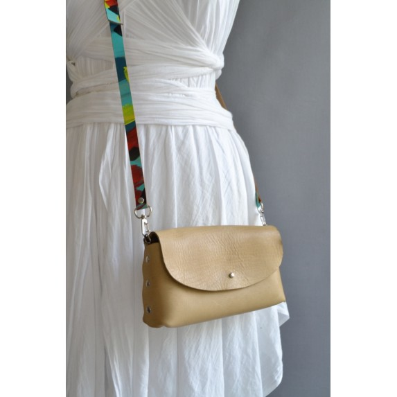 Deri Küçük Çanta -Dikişsiz Model- Saman Sarısı