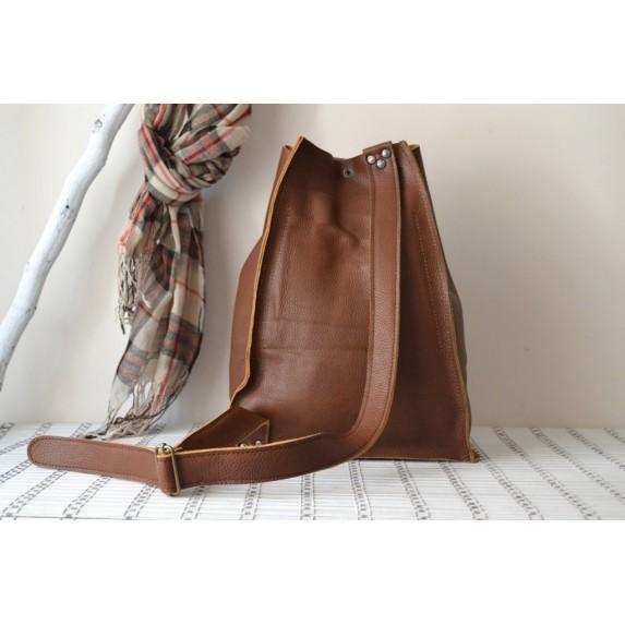 Deri Bucket Sırt Çantası / Leather City Backpack