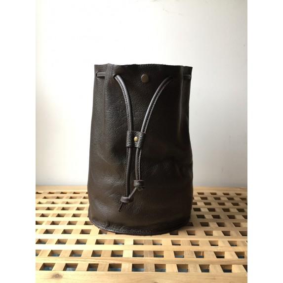 Deri Sırt Çantası / Tek Askılı Bucket Sırt Çantası
