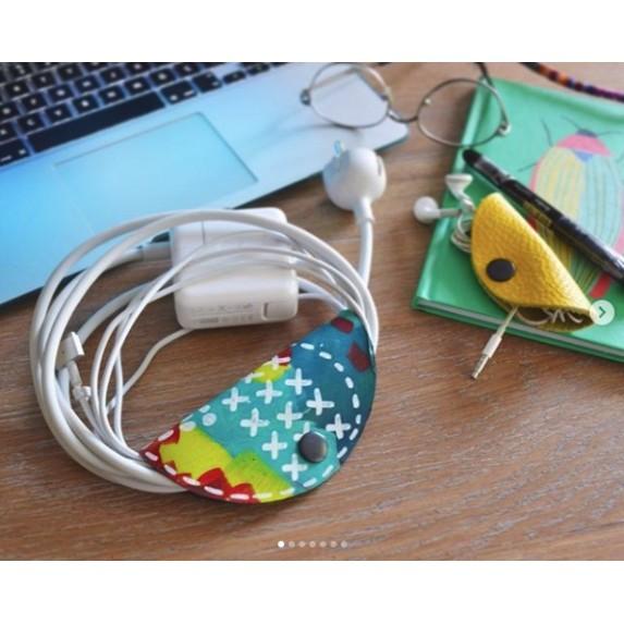 Deri, El Boyaması, Büyük Boy Kablo/Kulaklık Düzenleyici