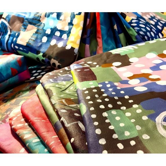 Canvas Orijinal El Boyaması Çapraz Askılı Çanta / Özel Tasarım Çanta